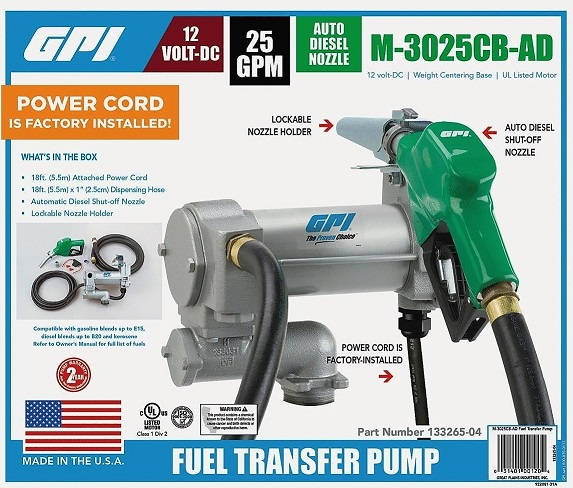 Gpi 12v Pump For Petrol And Diesel With 5 5 M Hose Kit And Automatic