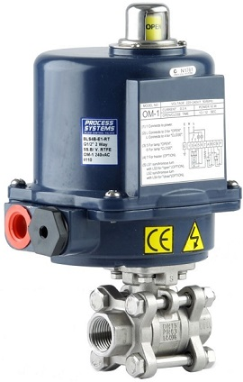 Condor 1 BSP(F) inch stainless steel 2 way electric ball valve with