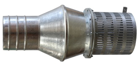 80 mm (3 inch) foot valve and strainer - heavy duty galvanised steel