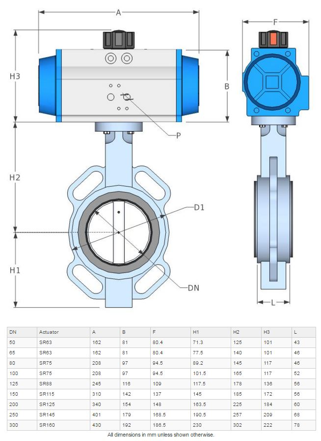 Bfk Butterfly Valve For Air And Water 50 Mm 2 Inch