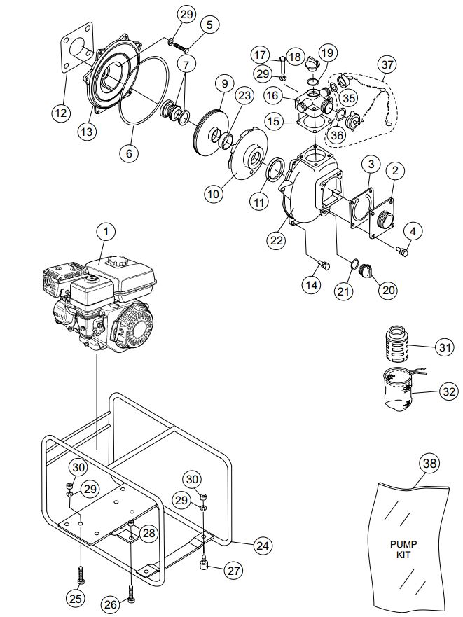 Qp Pump Spare Parts Illustration on Honda Xr 200 Wiring Diagram